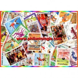 Athlétisme timbres thématiques tous différents.
