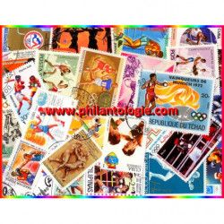 Boxe timbres thématiques tous différents.