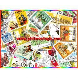 Cyclisme timbres thématiques tous différents.