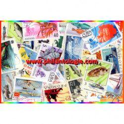 Pêche timbres thématiques tous différents.