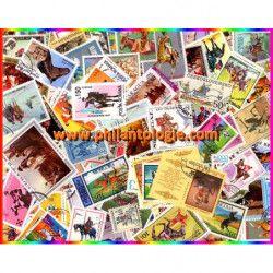 Cavaliers 100 timbres thématiques tous différents.