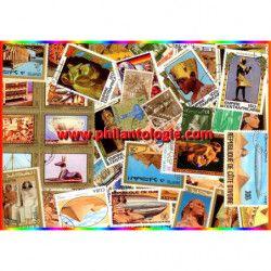 Art Égyptien timbres thématiques tous différents.