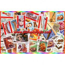 Instruments de musique timbres thématiques tous différents.
