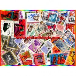 Théâtre - Opéra timbres thématiques tous différents.
