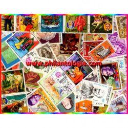 Littérature timbres thématiques tous différents.
