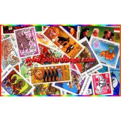 Cirque 25 timbres thématiques tous différents.