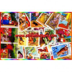 Contes timbres thématiques tous différents.