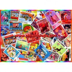 Walt Disney timbres thématiques tous différents.