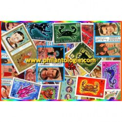 Astrologie 25 timbres...