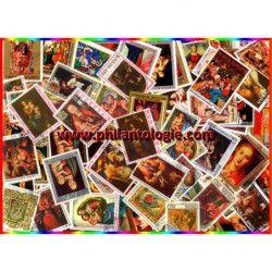 Nativité Vierge timbres thématiques tous différents.