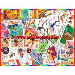 """Athlétisme """"Lancers"""" timbres thématiques tous différents."""