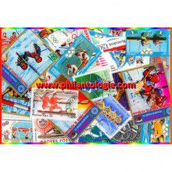 Canoë - Aviron timbres thématiques tous différents.