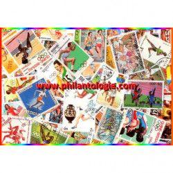 Course à Pied timbres thématiques tous différents.