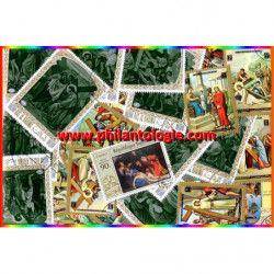 Chemin de Croix timbres thématiques tous différents.