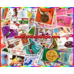 """Athlétisme """"Sauts"""" timbres thématiques tous différents."""