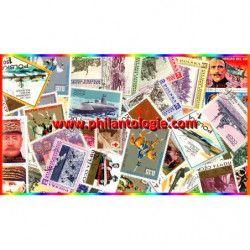 Guerre timbres thématiques tous différents.