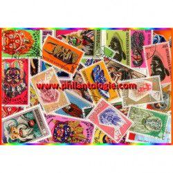 Masques timbres thématiques tous différents.