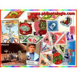 "25 timbres thématiques en format ""Insolite""."