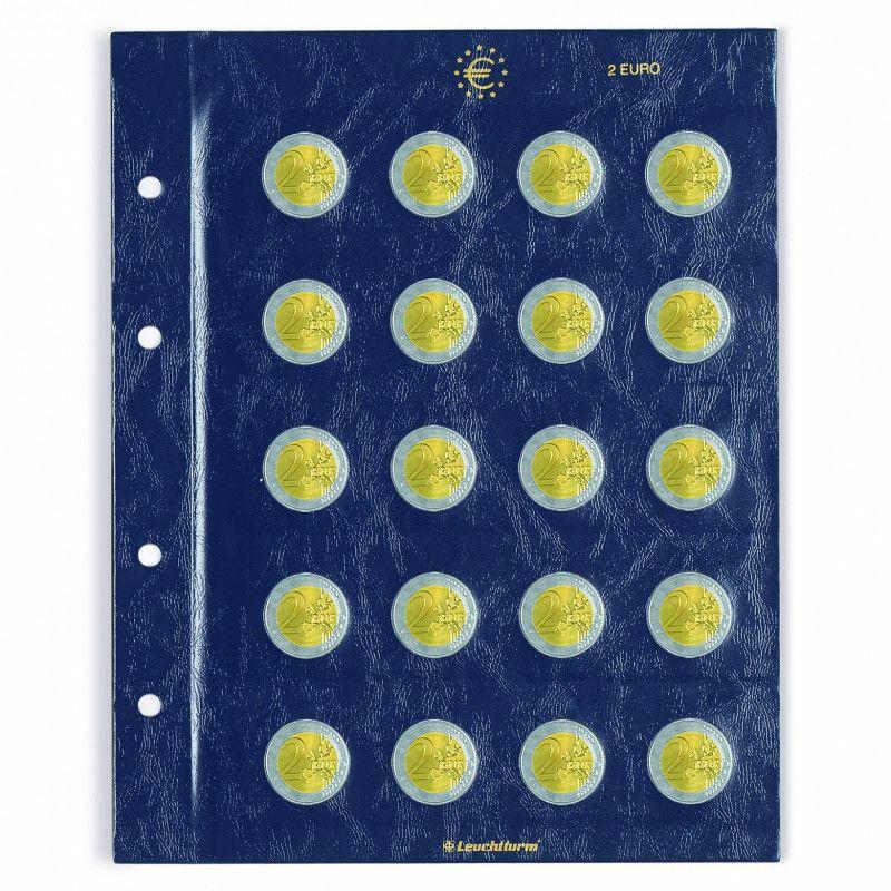 Feuilles numismatiques Vista pour 2 euros commémoratives.