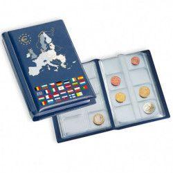 Album numismatique de poche pour 12 séries d'euros.