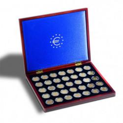 Coffret Volterra pour ranger 35 pièces de 2 euros commémoratives.