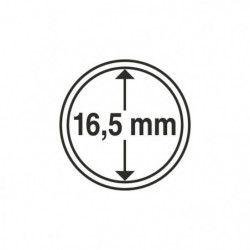 Capsules numismatiques rondes 16,5 mm pour monnaies de collection.