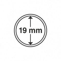 Capsules numismatiques rondes 19 mm pour monnaies de collection.