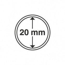 Capsules numismatiques rondes 20 mm pour monnaies de collection.