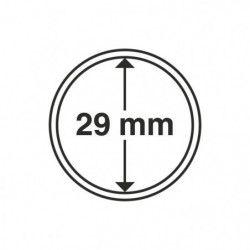Capsules numismatiques rondes 29 mm pour monnaies de collection.