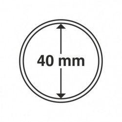 Capsules numismatiques rondes 40 mm pour monnaies de collection.