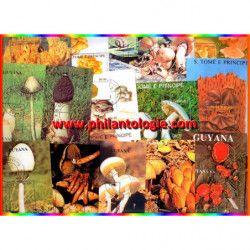 Champignons 25 blocs-feuillets de timbres thématiques.
