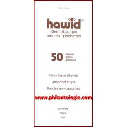 Assortiment de 50 grammes bandes Hawid simple soudure pour timbres.