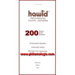 Assortiment de 200 grammes bandes Hawid simple soudure pour timbres.