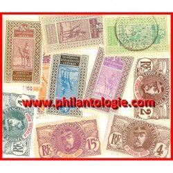 Haut-Sénégal-Niger timbres de collection tous différents.
