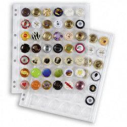 Feuilles transparentes Encap pour ranger 42 capsules de bière.
