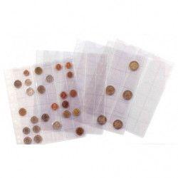 Assortiment 5 feuilles Numis pour ranger 143 monnaies.