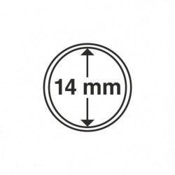 Capsules numismatiques rondes 14 mm pour monnaies de collection.