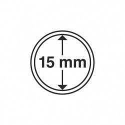 Capsules numismatiques rondes 15 mm pour monnaies de collection.