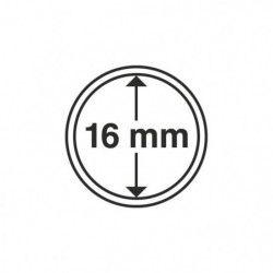 Capsules numismatiques rondes 16 mm pour monnaies de collection.