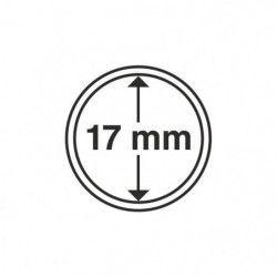 Capsules numismatiques rondes 17 mm pour monnaies de collection.