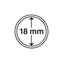 Capsules numismatiques rondes 18 mm pour monnaies de collection.
