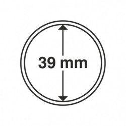 Capsules numismatiques rondes 39 mm pour monnaies de collection.