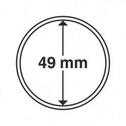 Capsules numismatiques rondes 49 mm pour monnaies de collection.