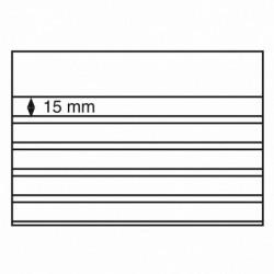 Cartes de classement à 5 bandes PVC pour timbres, 210 X 148 mm.