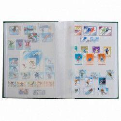 Classeur à bandes pour timbres 16 pages blanches.