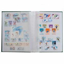 Classeur à bandes pour timbres 32 pages blanches.