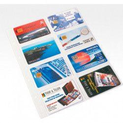 Recharges caravelle rigides à 8 poches pour télécartes.
