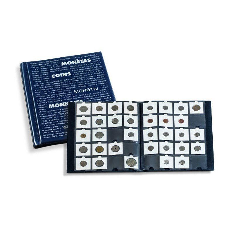 Album pour ranger 200 monnaies sous étui carton.
