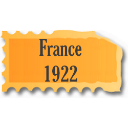 Timbres France neufs 1922...