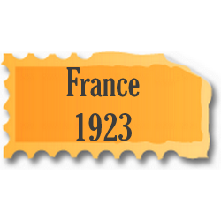 Timbres France neufs 1923...